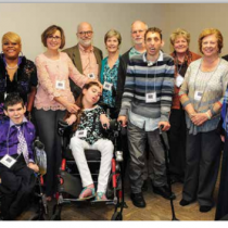 Callie Moore and Pam Walley are front and center in a picture on page 10 of Making A Difference magazine