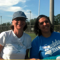 Glynn County Shirley Moore pictured with a buddy ball parent