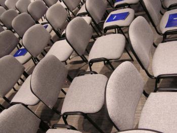 Conference seating in rows